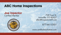 Business Card MIC for Home Inspectors - 1000 cards
