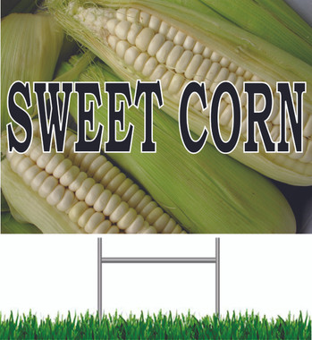 Sweet Corn Yard Sign Colorful Sign.