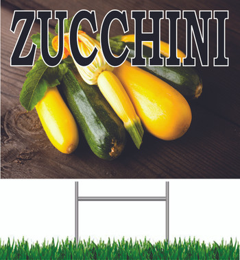 Zucchini Yard Sign this is a Very Colorful Sign.