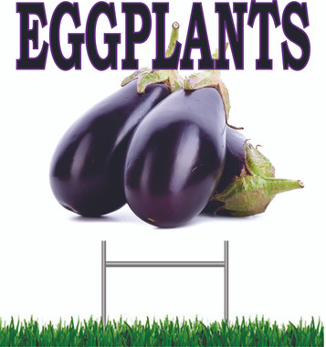 Eggplant Yard Sign This Sins Gets Noticed.