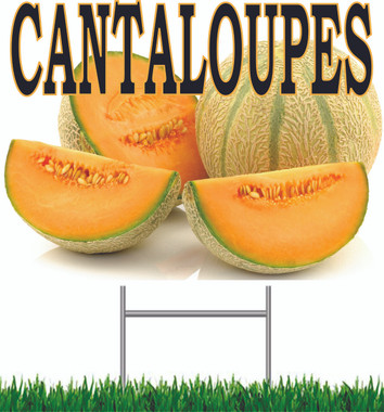 Cantaloupe Yard Sign Nice Bright & Colorful.