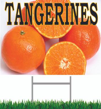 Tangerines Yard Sign Very Noticeable!