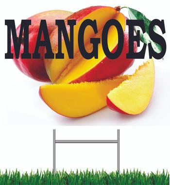 Mangoes Yard Sign