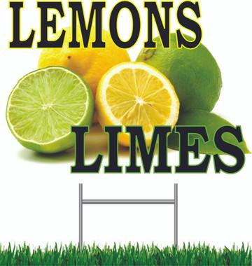 Lemons Limes Yard Sign.
