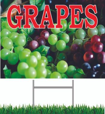 Grapes Yard Sign.