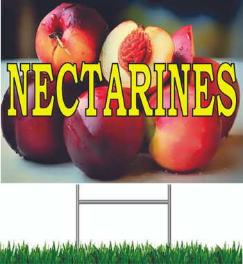 Nectarines Yard Signs Very Colorful Signs.