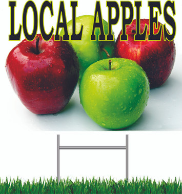 Local Apples Yard Sign.