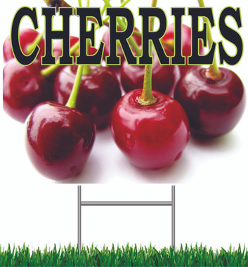 Cherries Yard Sign Great Color in this Sign.