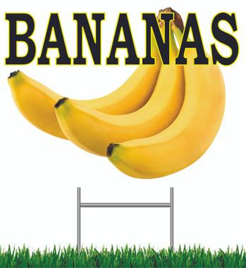 Bananas Yard Sign Very Colorful!