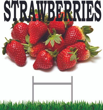 Strawberries Yard Sign This is A Very Colorful Sign Always Get Noticed!