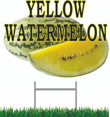 Yellow Watermelon Yard Sign.