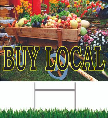 Buy Local Yard Sign