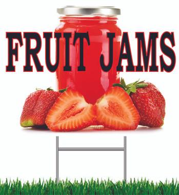 Fruit Jams Yard Sign.