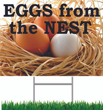 Eggs from the Nest Yard Sign.