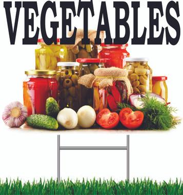 Vegetable Yard Signs.