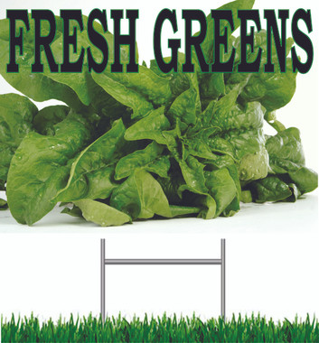 Fresh Greens Two-Sided Road Sign For Vegetable Markets VY 244
