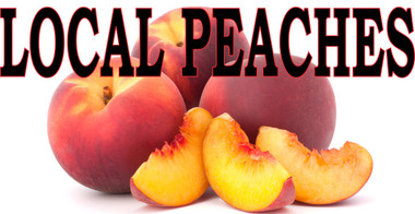 Local Peaches 3ft x 6ft Banner