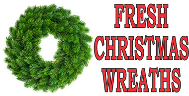 Christmas Wreaths Banner 6ft & 8ft
