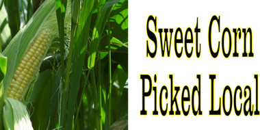 Sweet Corn Picked Local Get Customers to Stop In.