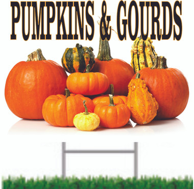 Great Fall Color on this pumpkins & Gourds Sign.