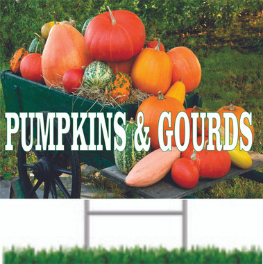 Outstanding Fall Color on this pumpkins & Gourds Road Sign.
