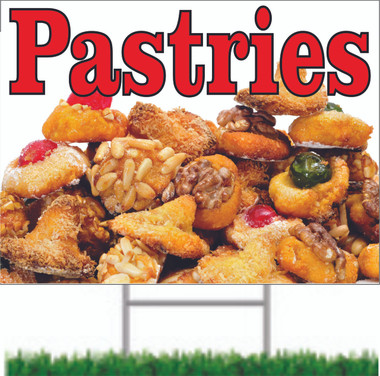 Pastries Road Signs Bring Customers in Wanting Sweets.
