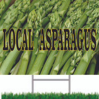 Local Asparagus Nice Looking Road Sign Brings In New Customers.