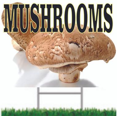 Mushrooms Road Sign.