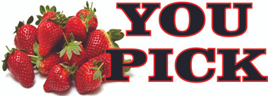 You Pick Strawberries Banner FB 756 - 3