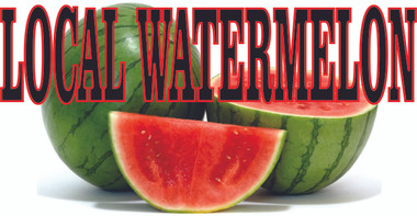 Local Watermelon Banner let's Customers Know you Offer Local.