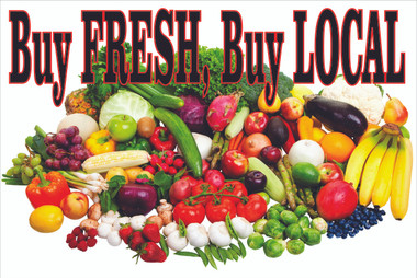 Buy Fresh, Buy Local Produce Banners, Let Customer Know You Sell Local.
