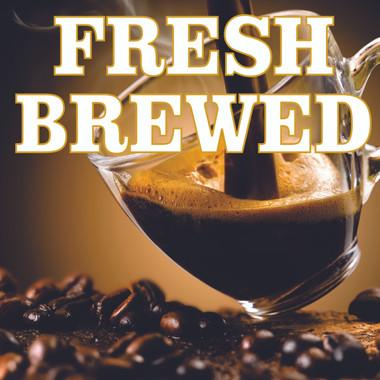 Beautiful Coffee Road Sign Invites Customer In.