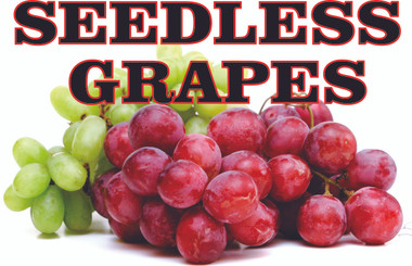 Grapes Banner is a Great Way to Get Customers Into Your Market.