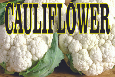 Colorful Cauliflower Banner Helps Get Customers In.
