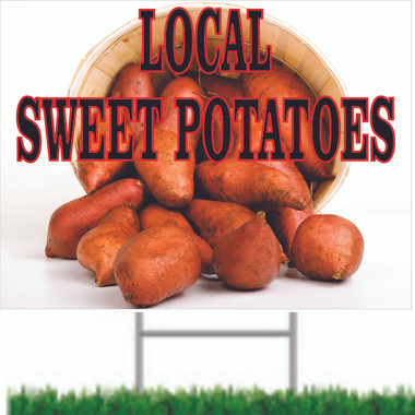 This Sweet Potatoes Road Sign Bring In Customers.