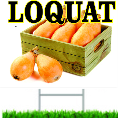 Loquat Fruit Road Sign is Very Inviting.