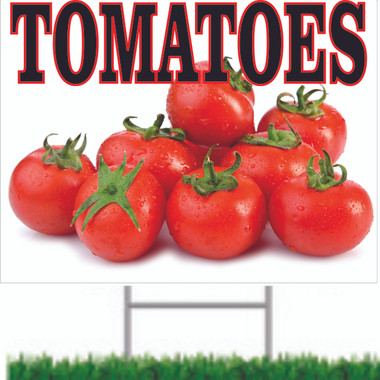 Bright & Colorful Tomatoes Sign Will Bring In Customers.