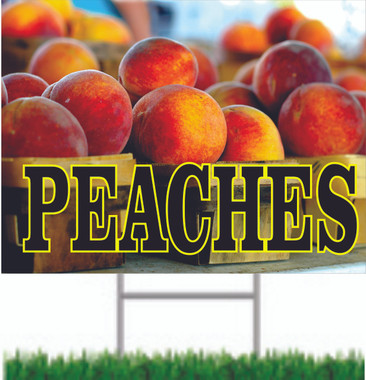 Peaches Two-Sided Road Sign FY 353