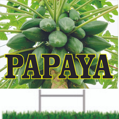 Papaya Road Sign is Very Colorful And Inviting.