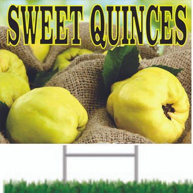 Sweet Quinces Road Sign is Very Inviting.