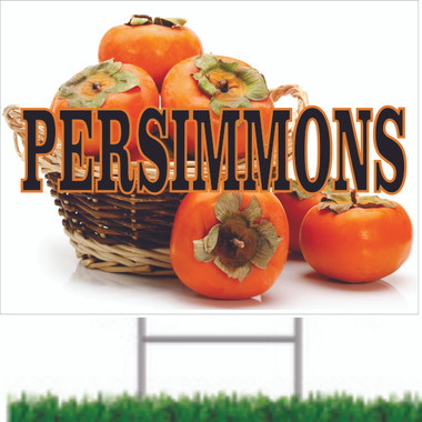 Persimmons Farmers Market Road Sign.