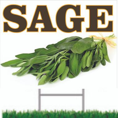 Sage Road Sign Let Customer Know You Offer Spice.