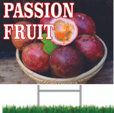 Nice Colorful Passion Fruit Road Sign Will Get Noticed.