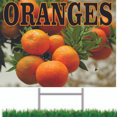Oranges Road Sign is a Sign That Always Get Noticed.