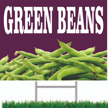 Green Beans Road Signs are Very Colorful.