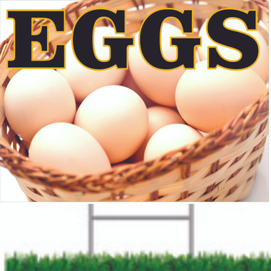 Nice Looking Eggs Road Sign that Will Bring In Customers.