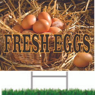 Fresh Eggs Road sign Looks Great And Brings In Customer.