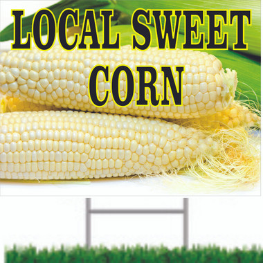 Local Sweet Corn Road Signs.