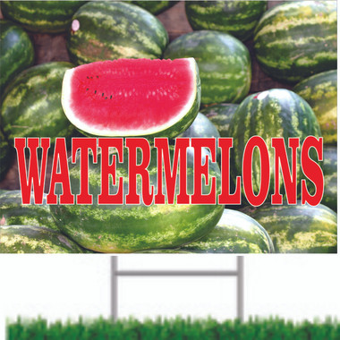 Watermelons Road Signs Bring In New Customers.