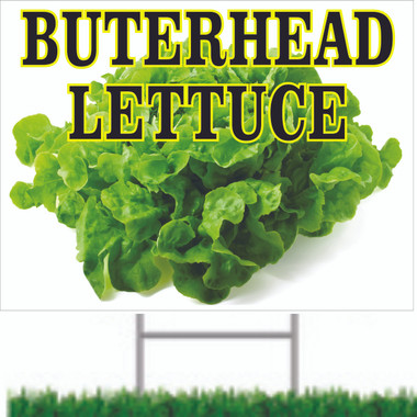 Butterhead Lettuce Road Signs Bring In Customers.
